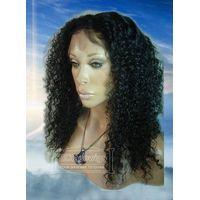 Wholesale Indain Brazilian Kinky Curly Human Hair Full Lace Wigs,Cheap Price thumbnail image