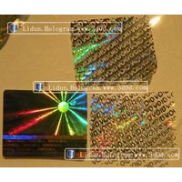 A class Hologram sticker/watermark/fluorescence/color changing Lindun