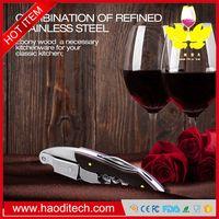 Waiters Corkscrew Premium Wine Opener Ebony wood Handle wine opener Stainless Steel Double Hinged bo thumbnail image