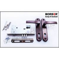 Mortise cylinder lock with a spring-latch and latch handles