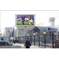 outdoor P20 led sign,P16 led screen with single pole