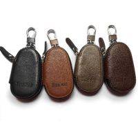 factory sell  Car Keychain Key Holder Bag Wallet Cover/Six Key Hook Zipper Case with Card Holder