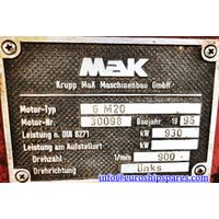 MAK 6M20 ENGINE FOR SALE thumbnail image