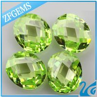 Brazilian fashion oval shape double checker cut cz cubic zirconia