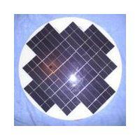 Round solar panel