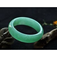 Native green and white Jade bangle 57mm C1547
