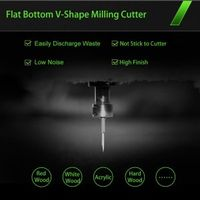 Flat Bottom V Shape Milling Cutter Imported Material Sharp Ball CNC Router Bit for Acrylic ABS Hard thumbnail image