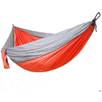 Leisure hanging bed double hammock 300x200cm with lightweight parachute fabric 210T nylon