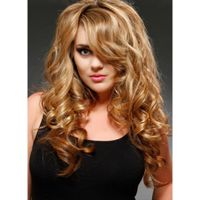 Long Blond Hairstyle With Sexy Curly synthetic hair Wig