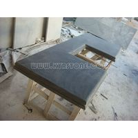 KYRSTONE Honed Black Limestone Blue Limestone for vanity top