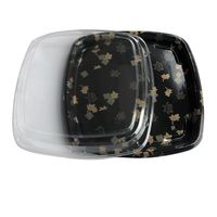 Disposable Square Sushi Tray with Lid Food contianer