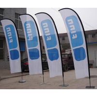 Heat transfer printed feather flag(teardrop banner and bowhead banner) thumbnail image