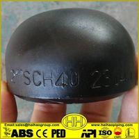 SCH40 carbon steel butt weld pipe caps
