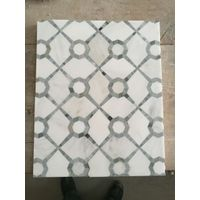 white polished mosaic tile