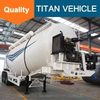 Titan Vehicle Bulk Cement Silo Semi Trailer V Type Bulk Cement Semi Trailer