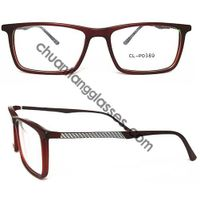 Square Frame Acetate Optical Glasses Carbon Fiber Tempel Eyewear