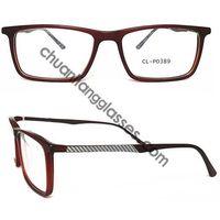 Square Frame Acetate Optical Glasses Carbon Fiber Tempel Eyewear