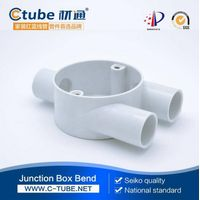 PVC round electrical junction box for 3 way Y type circular box