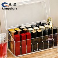High quality custom design clear acrylic nail polish with lid