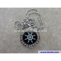 Quantum vesuvianite energy pendant oem odm,stainless steel pendant,lava pendant