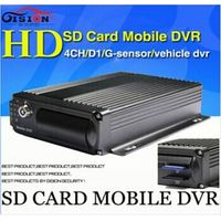Free Shipping Mobile DVR,support dual SD card, H.264 4CH car dvr ,motion detective, cycle recording
