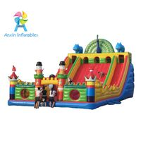 inflatable animal world playground, inflatable beautiful peacock castle with slide, blowing up indoo thumbnail image