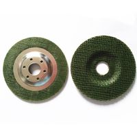 90mm Green color fiberglass backing pad with metal cover from China