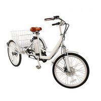 26 inch pedal assist front drive three wheel cargo electric bicycle bike trike tricycle
