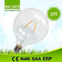 G125 big globe led filament bulb