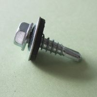 Hex head flange self drilling screw