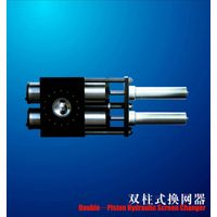 Double-piston hydraulic screen changer , with double working position