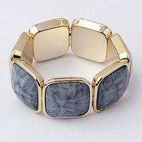 Bright Temperament Wide Bracelet With Elastic Dark Gray thumbnail image