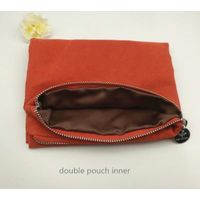 Double layers suede satin zipper pouch clothes organizier thumbnail image
