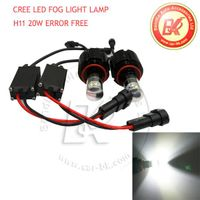 Canbus Error Free CREE 20W LED Fog Light Bulb White H16, H8, H11, 9005/9006