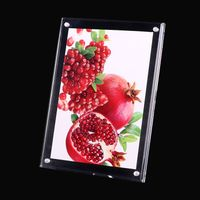 Free standing acrylic double sides photo frame clear pmma poster display stand thumbnail image