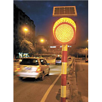 Solar Yellow Warning Light