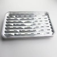 Hot Sale Aluminum food grade disposable aluminium foil bbq grill pan