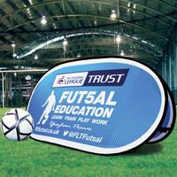 Double sided sport advertising pop up A-frame banner