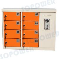 8-door coin operated phone charging locker/station