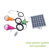 Wholesale protable solar home lighting kit with usb charge