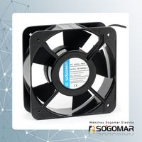 axial fan/ ventilation 150x150x50mm with plastic blades