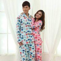 Cotton Pajamas Long Sleeve Couple Pajamas Home Wear thumbnail image