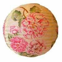 round printing paper lantern