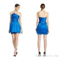 Wholesale satin royal blue cocktail dress ( RB9668)