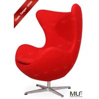 MLF Red design Arne Jacobsen Egg Chair Premium Cashmere Wool & Hand Sewing