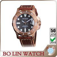 custom logo watch,mens luminous watch sapphire glass,50atm diving watch,private label bronze watch thumbnail image