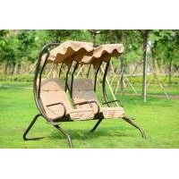 outdoor garden three swing chair villa patio swing folding swing chair/hammock
