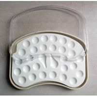 Dental Ceramic Mixing Slab ( Plate),28 Slots , having plastic Cover& Bottom