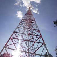 30M Triangular Lattice Telecommunication Steel Tower with Design Wind Speed 150kmph