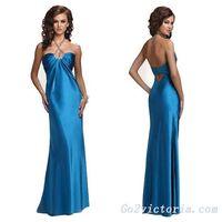 Wholesale satin evening / prom dress (T9257)